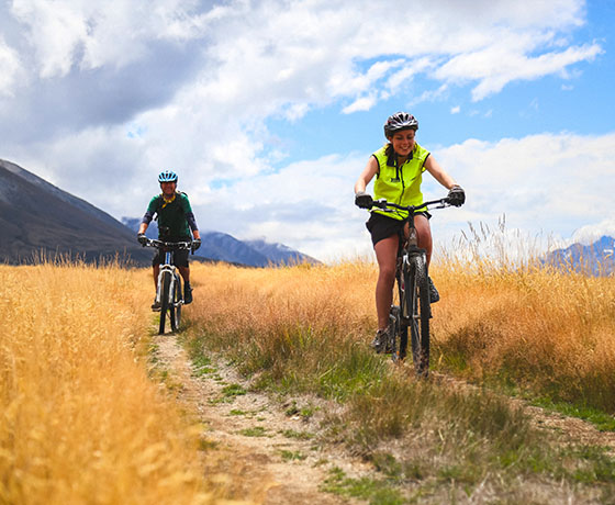Enjoy the off-road cycling along the trail