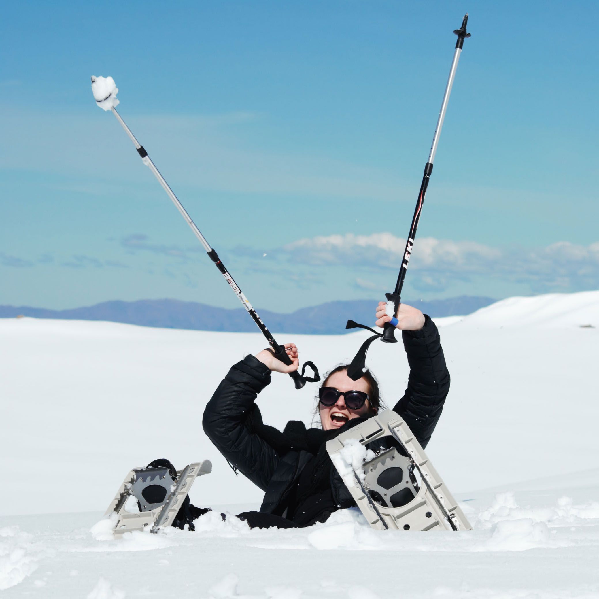A snowshoe tour is the perfect way to play in the snow at Aoraki Mount Cook.