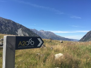 The Alps 2 Ocean Cycle Trail begins in Aoraki Mount Cook National Park and ends at the east coast of the South Island.