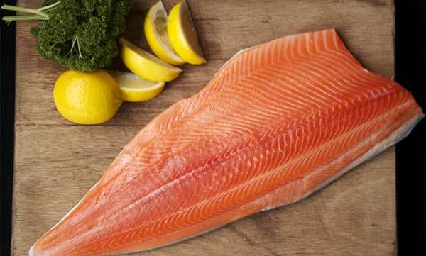 A fresh salmon fillet prepared by High Country Salmon in Twizel.